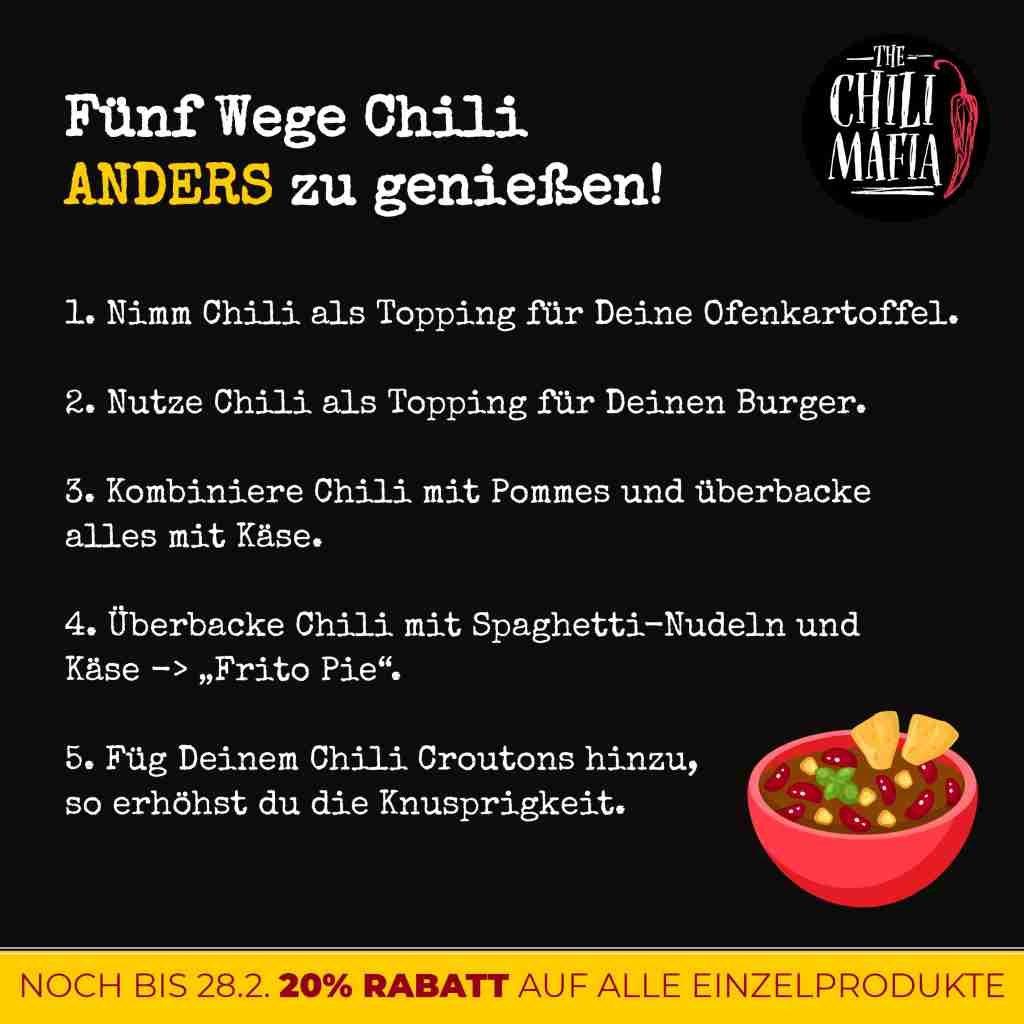 chili con carne weiter verwenden